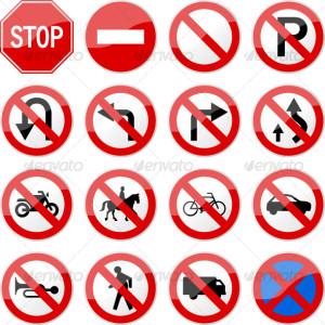 no entry-no exit