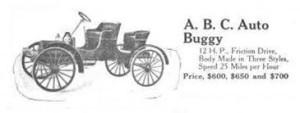 ABC autobuggy. St. Louis. 1906-1910.